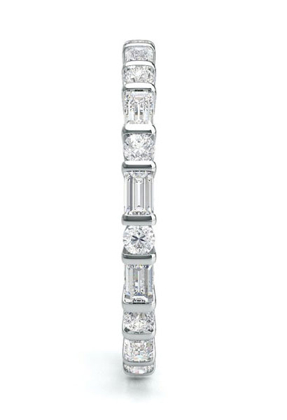 Bar Setting Full Eternity Diamond Ring