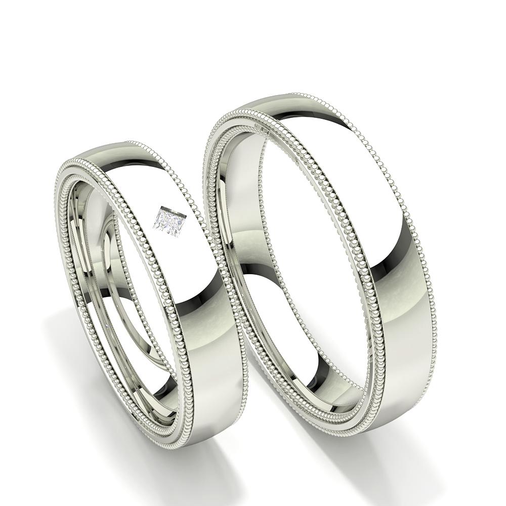 Alliance pour femme Edge millegrain diamant clouté