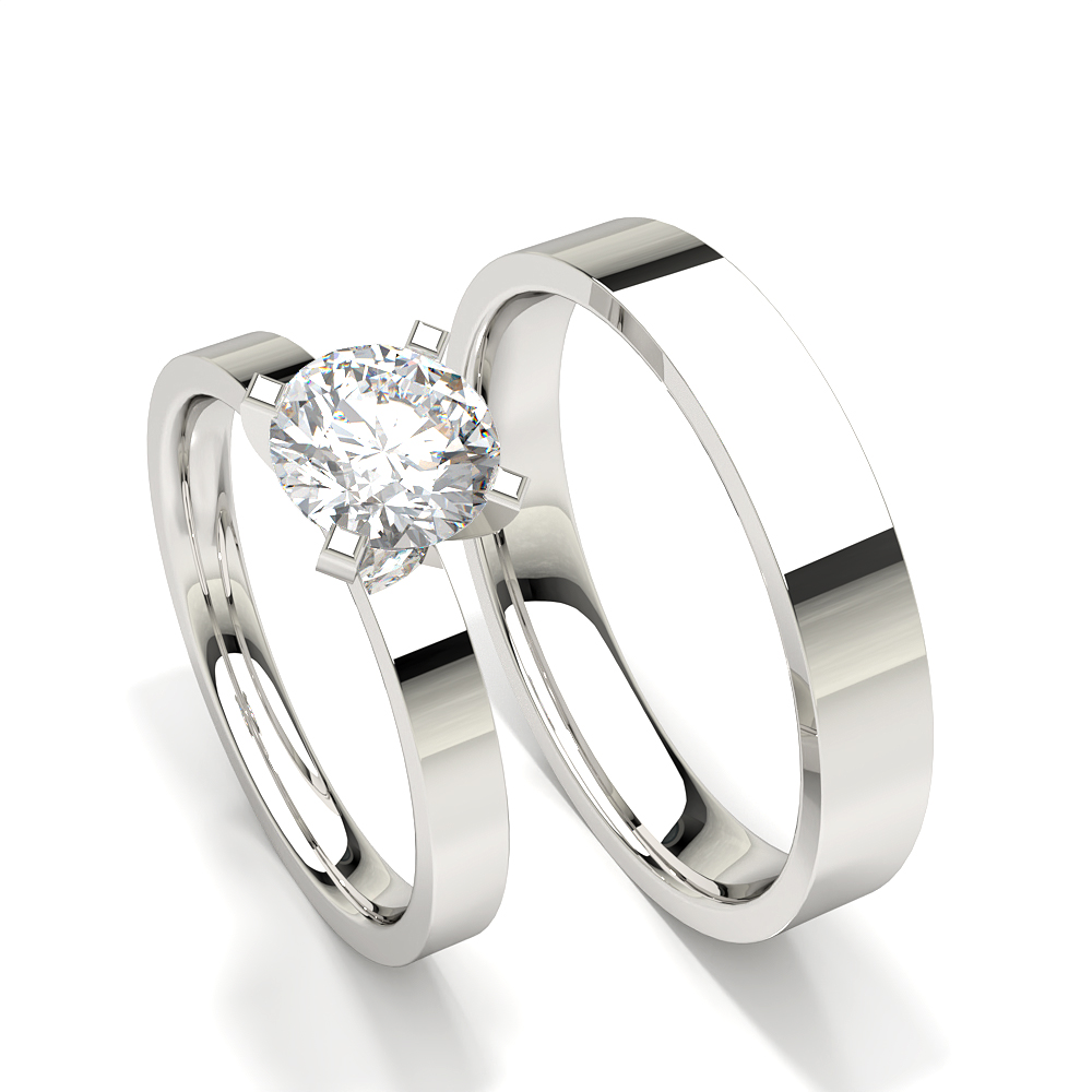 Bague de fiançailles femme diamant solitaire serti griffes