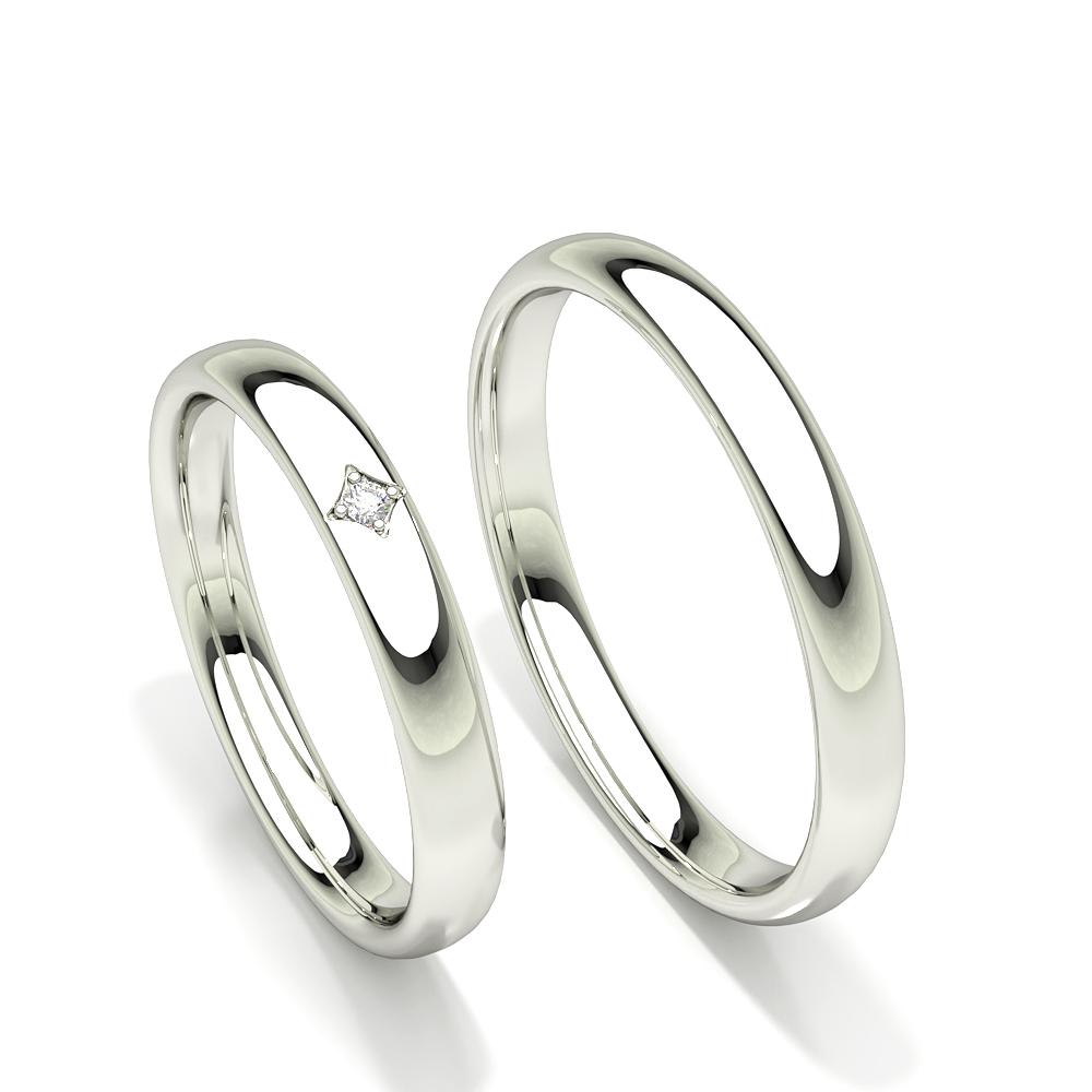 Bague de mariage pour femme avec diamant solitaire coupe confortable