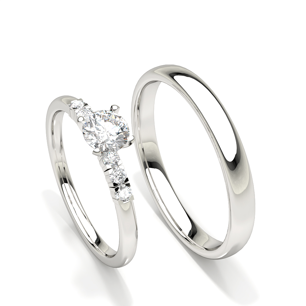 Bague de fiançailles femme diamant serti griffes