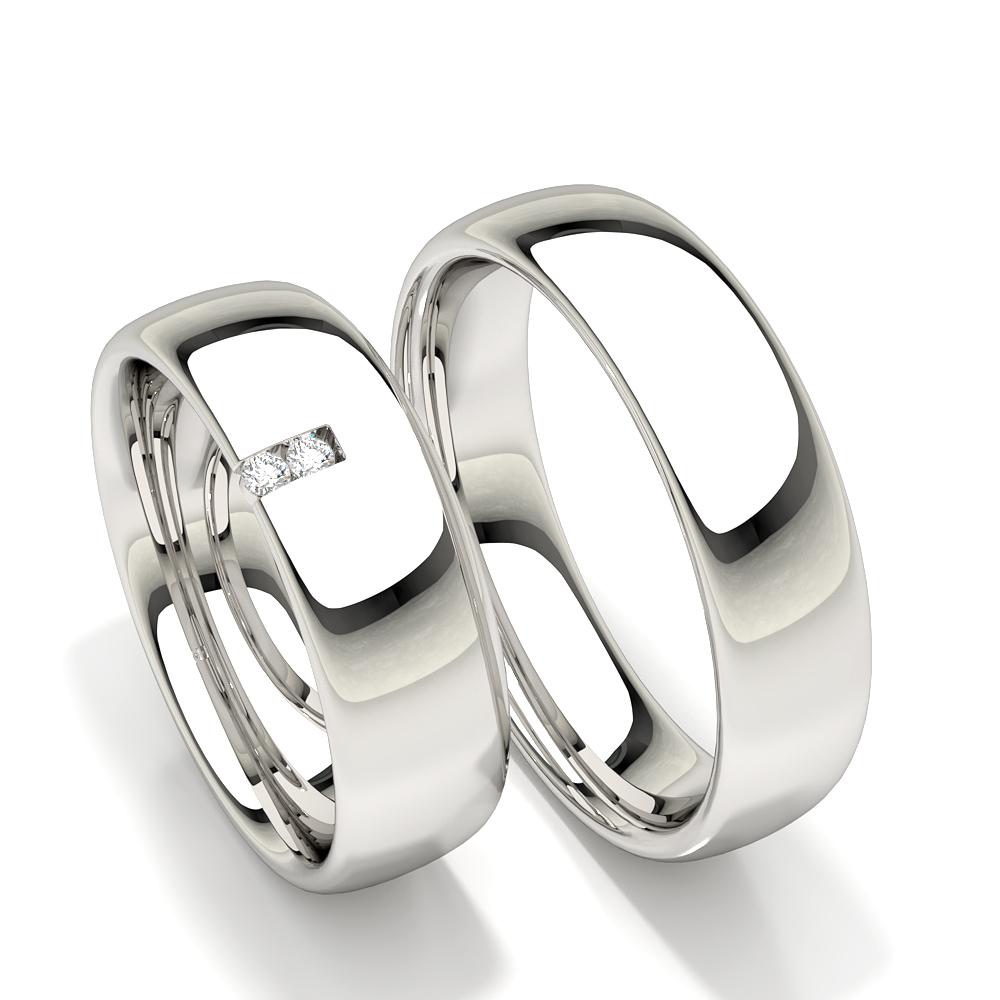 Alliance sertie de diamants ronds pour femmes coupe confortable