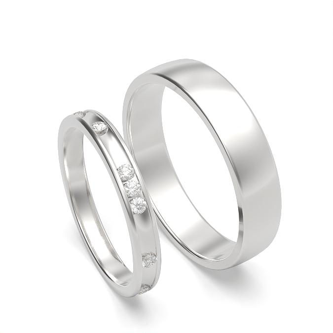 Damen und Herren Matching Couple Ehering