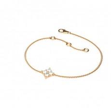 0.20ct. 4 Prong Setting Round Diamond Delicate Bracelet