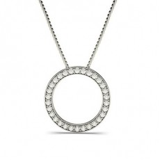 Pave Setting Circle Pendant
