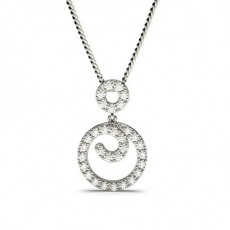 Prong Setting Round Diamond Drop Pendant