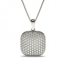 Pave Setting Round Diamond Designer Pendant