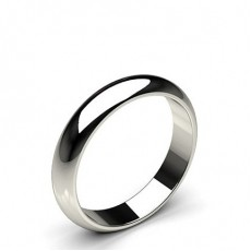 High Dome Standard Fit Classic Plain Wedding Band