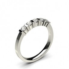 Bar Setting Plain Five Stone Ring