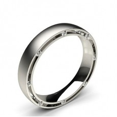 4.00mm Studded Comfort Fit Mens Wedding Band