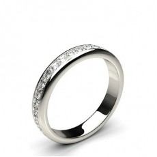 3.30mm Channel Setting Full Eternity Diamond Ring