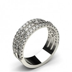 Prong Setting Round Diamond Fashion Ring