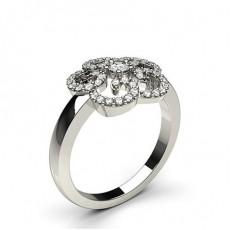 5 Prong Setting Round Diamond Fashion Ring