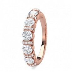 Semi Bezel Setting Full Eternity Diamond Ring
